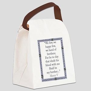 We Few, We Happy Few Canvas Lunch Bag