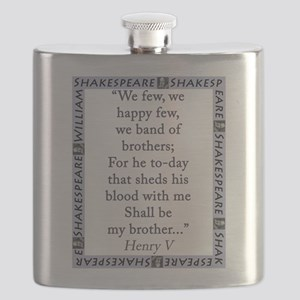 We Few, We Happy Few Flask