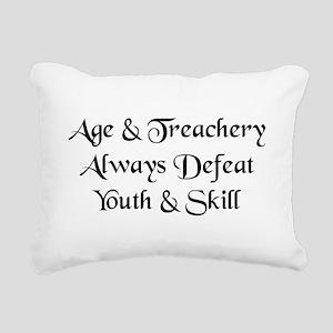 Age & Treachery Rectangular Canvas Pillow