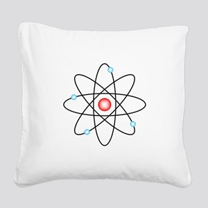 Atomic Square Canvas Pillow