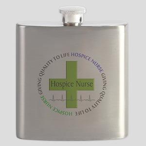 hospice nurse giving qulaity life 2 Flask