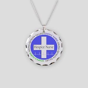 Hospice Nurse giving quality life Necklace Cir