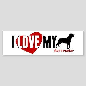 Rottweiler Sticker (Bumper)