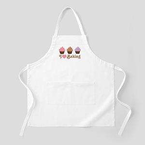 I Love Baking Cupcakes Apron