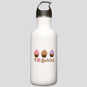 I Love Baking Cupcakes Stainless Water Bottle 1.0L
