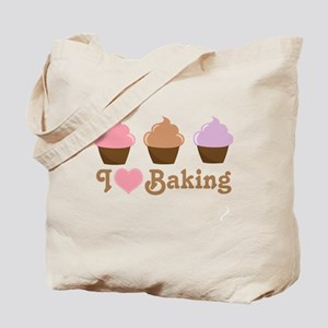 I Love Baking Cupcakes Tote Bag