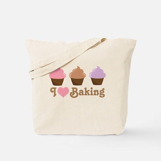 I Love Baking Cupcakes Tote Bag