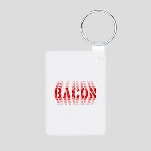 Bacon Fade Aluminum Photo Keychain