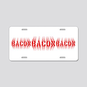 Bacon Fade Aluminum License Plate