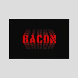 Bacon Fade Rectangle Magnet