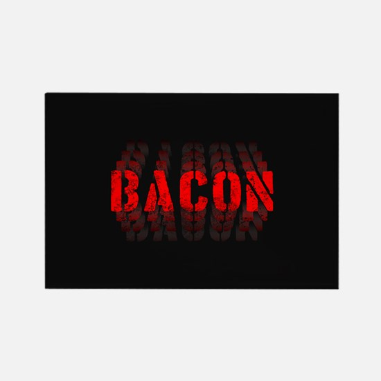 Bacon Fade Rectangle Magnet