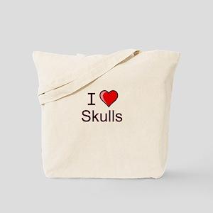 I love skulls Tote Bag