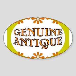 ANTIQUE STUFF Sticker (Oval)