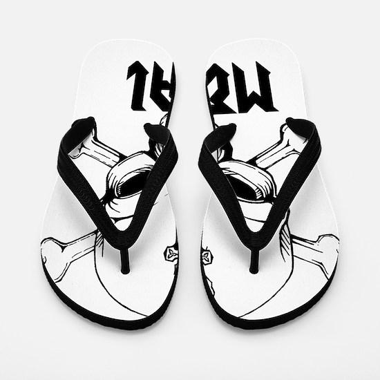 Metal Skull Flip Flops