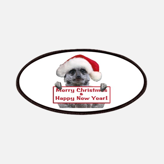 Helaine's Christmas Meerkat Patches