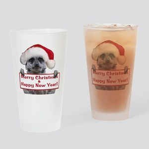Helaine's Christmas Meerkat Drinking Glass