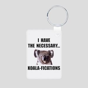 Koala Qualifications Aluminum Photo Keychain