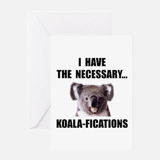 Koala Qualifications Greeting Card