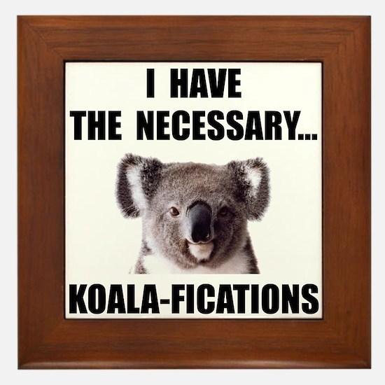 Koala Qualifications Framed Tile