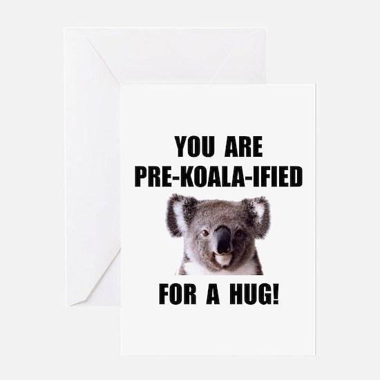 Pre Koala Qualified Hug Greeting Card