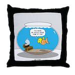 Fishbowl Treasure Throw Pillow