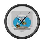 Fishbowl Treasure Large Wall Clock