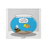 Fishbowl Treasure Throw Blanket