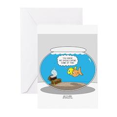 Fishbowl Treasure Greeting Cards (Pk of 20)