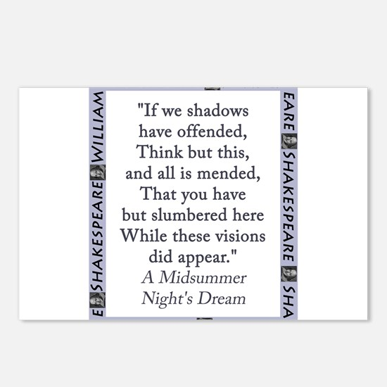 If We Shadows Have Offended Postcards (Package of