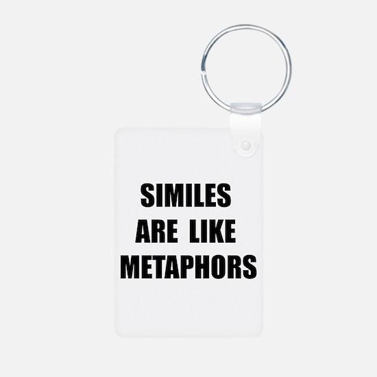 Similes Metaphors Keychains