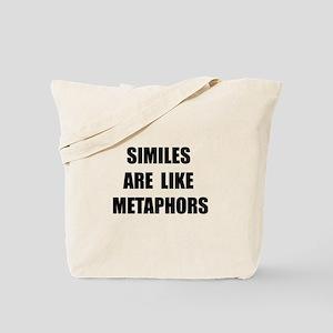 Similes Metaphors Tote Bag