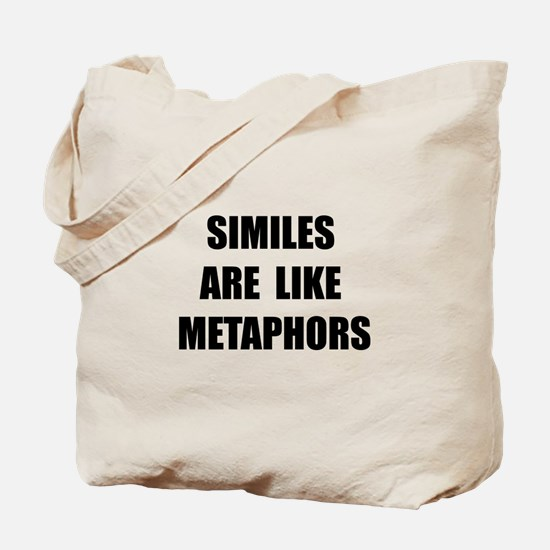 Similes Metaphors Tote Bag