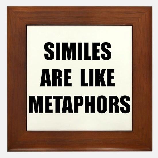 Similes Metaphors Framed Tile