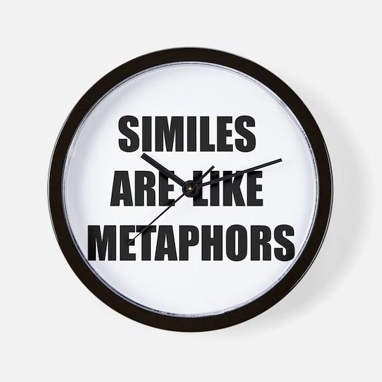 Similes Metaphors Wall Clock