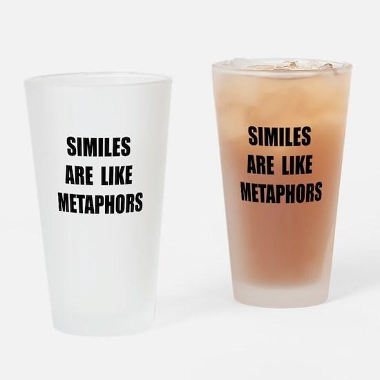 Similes Metaphors Drinking Glass