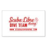 scuba libre diving logo Sticker (Rectangle 10 pk)