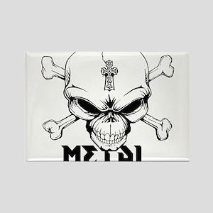 Metal Skull Rectangle Magnet