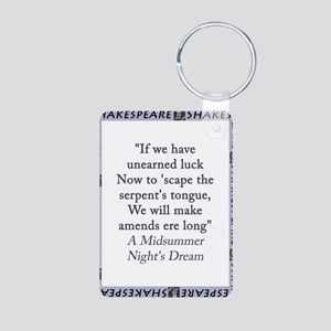 If We Have Unearned Luck Aluminum Photo Keychain