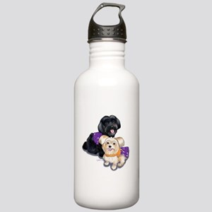 Havanese and Morkie Couple Stainless Water Bottle