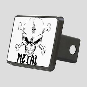 Metal Skull Rectangular Hitch Cover