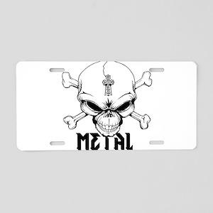 Metal Skull Aluminum License Plate