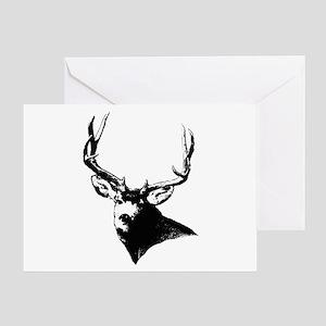 Buck deer head Greeting Card