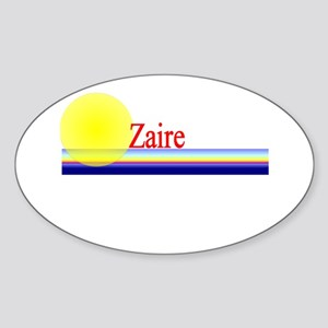 Zaire Oval Sticker