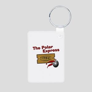 The Polar Express Ticket Aluminum Photo Keychain