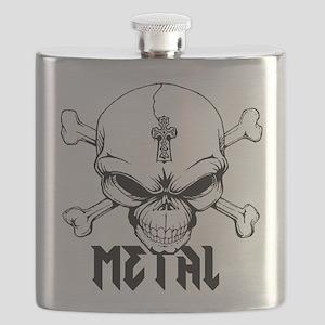Metal Skull Flask