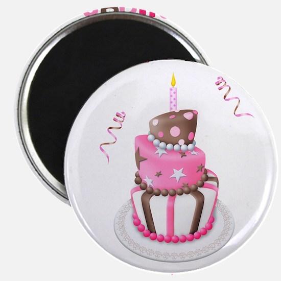 Birthday Girl Cake Magnet
