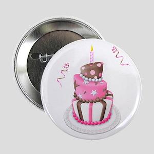 "Birthday Girl Cake 2.25"" Button"