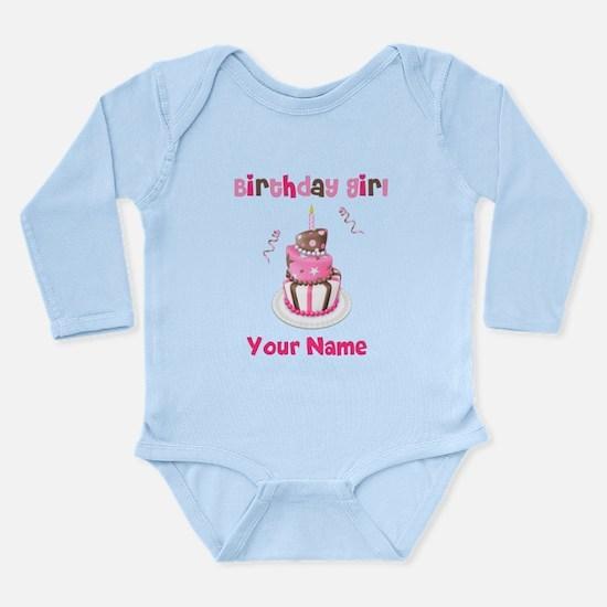 Birthday Girl Cake Long Sleeve Infant Bodysuit