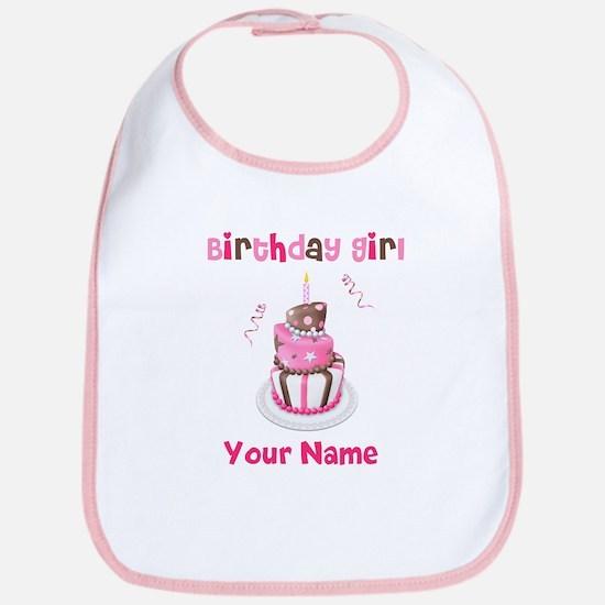 Birthday Girl Cake Bib