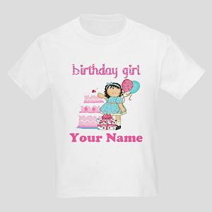 Birthday Girl Brunette Kids Light T-Shirt